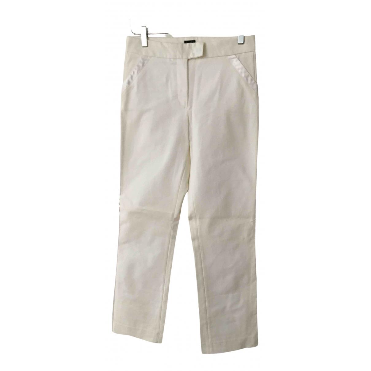Pantalon en Algodon Blanco Joseph