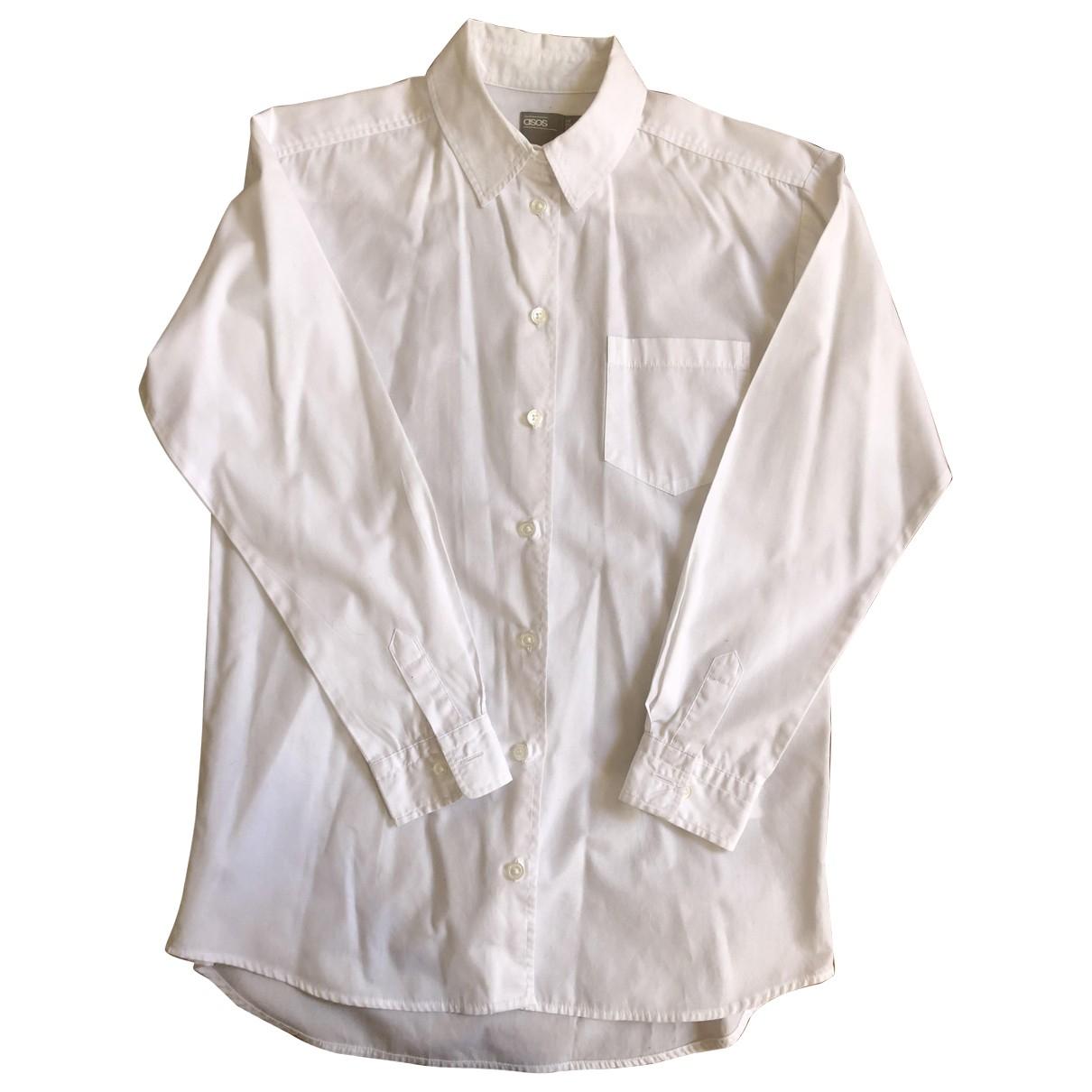 Asos - Top   pour femme en coton - blanc
