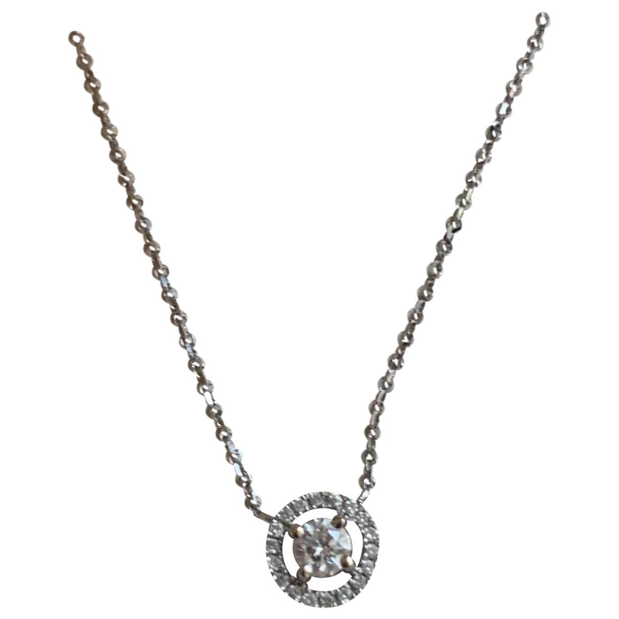 Lucky One Bijoux - Collier   pour femme en or blanc - argente