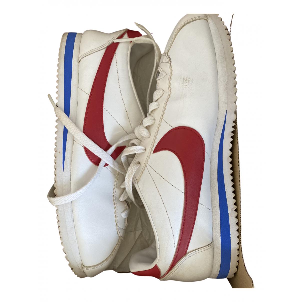 Nike Cortez Sneakers in  Weiss Leder