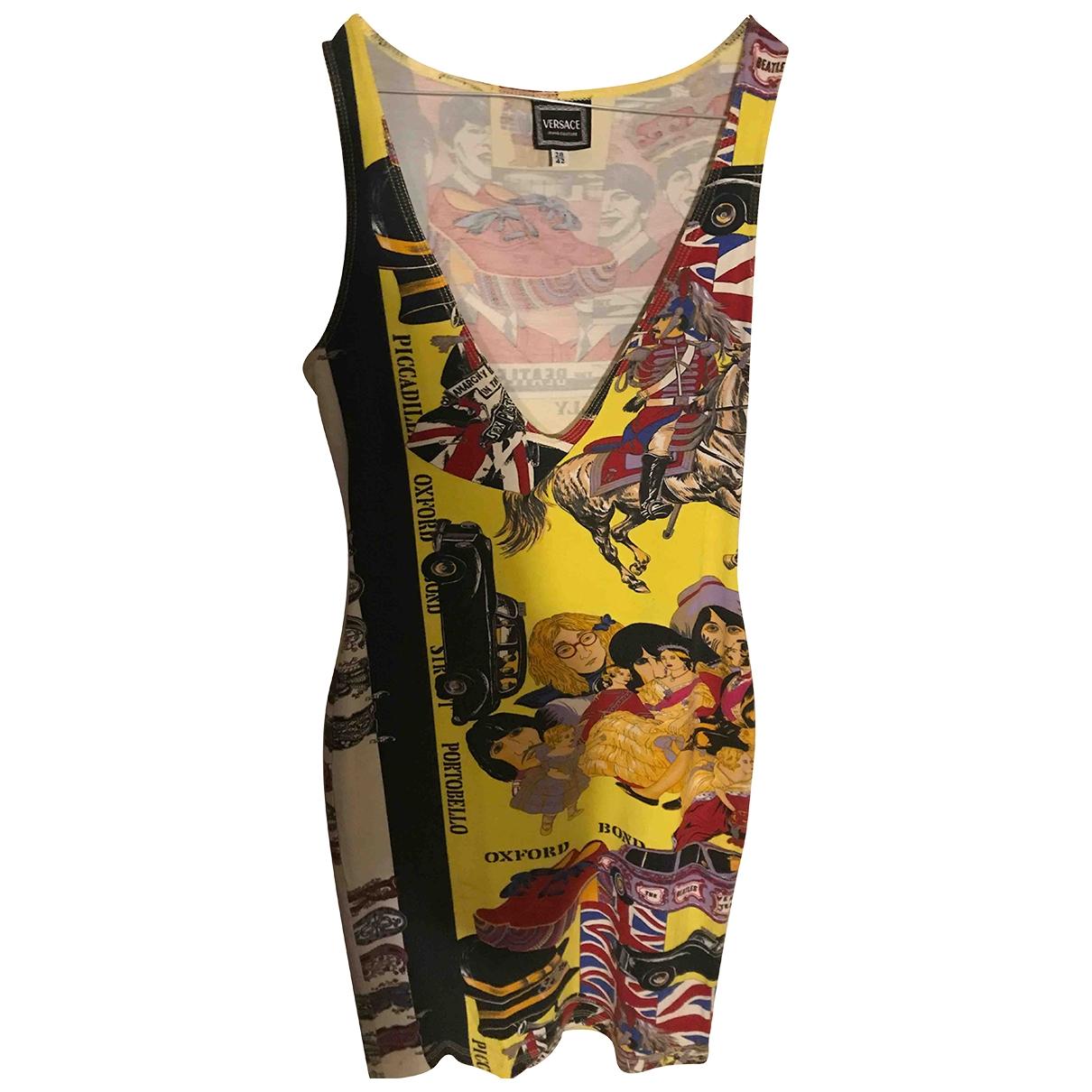Versace Jean - Robe   pour femme en coton - elasthane - multicolore