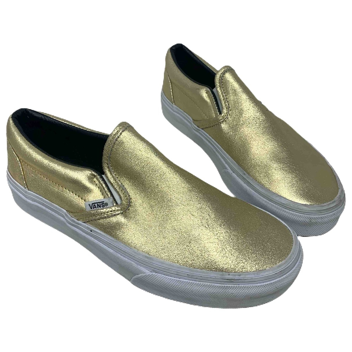 Vans \N Gold Leather Trainers for Women 37 EU