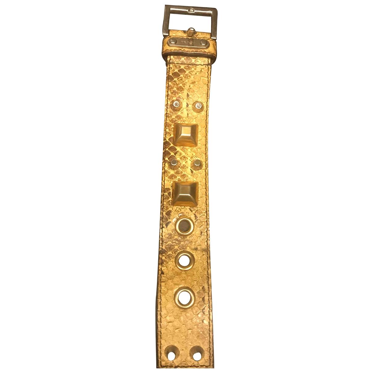 Prada - Bracelet   pour femme en python