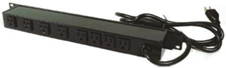 Wiremold 4.6m 8 Socket NEMA 5-15R Extension Lead, 120 V, Black