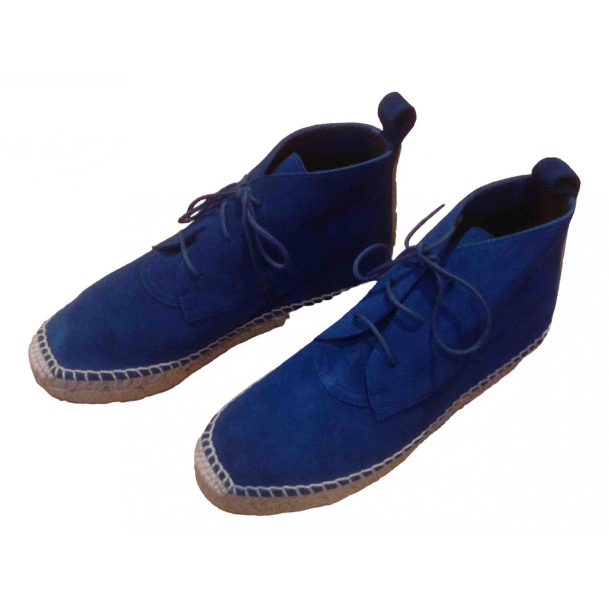 Balenciaga \N Espadrilles in  Blau Veloursleder