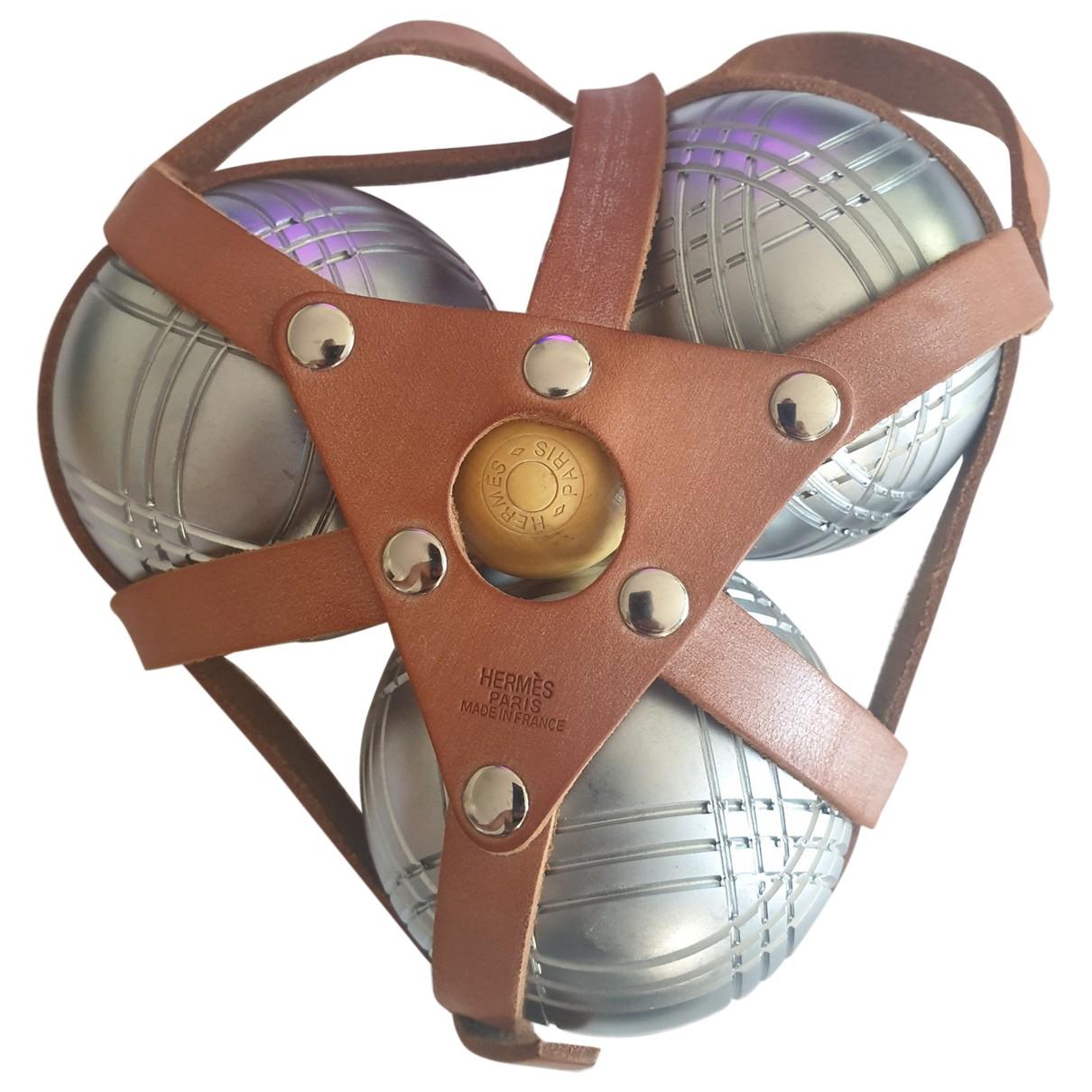 Hermes - Ballons   pour lifestyle en metal - argente