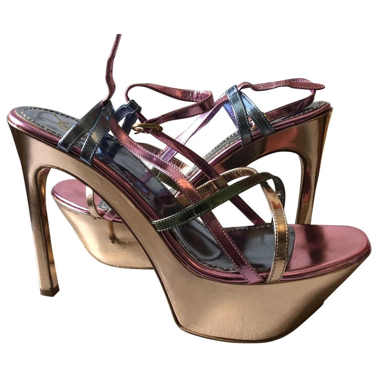 Yves Saint Laurent \N Multicolour Patent leather Sandals for Women 40 EU