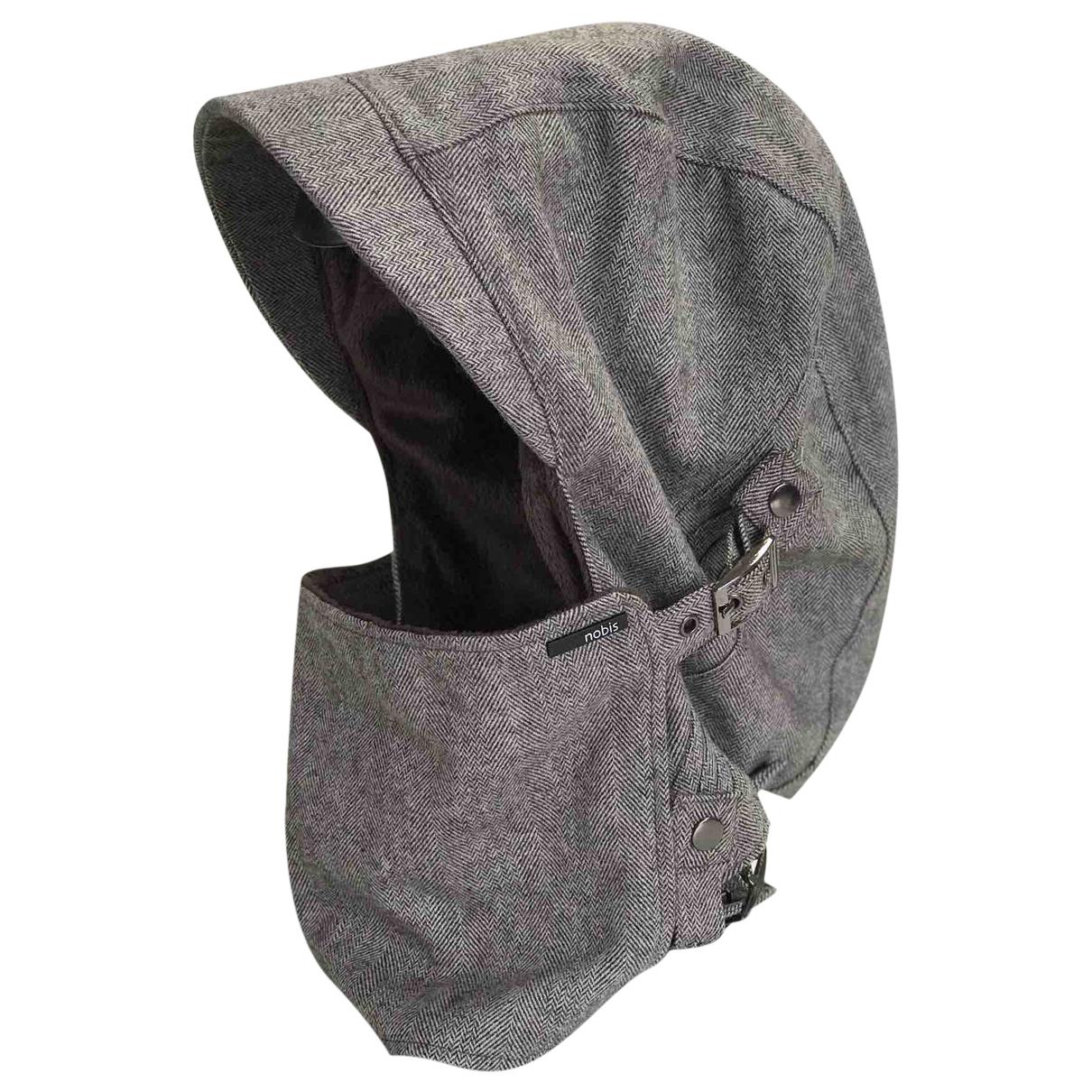 Nobis \N Hut, Muetzen in  Grau Wolle