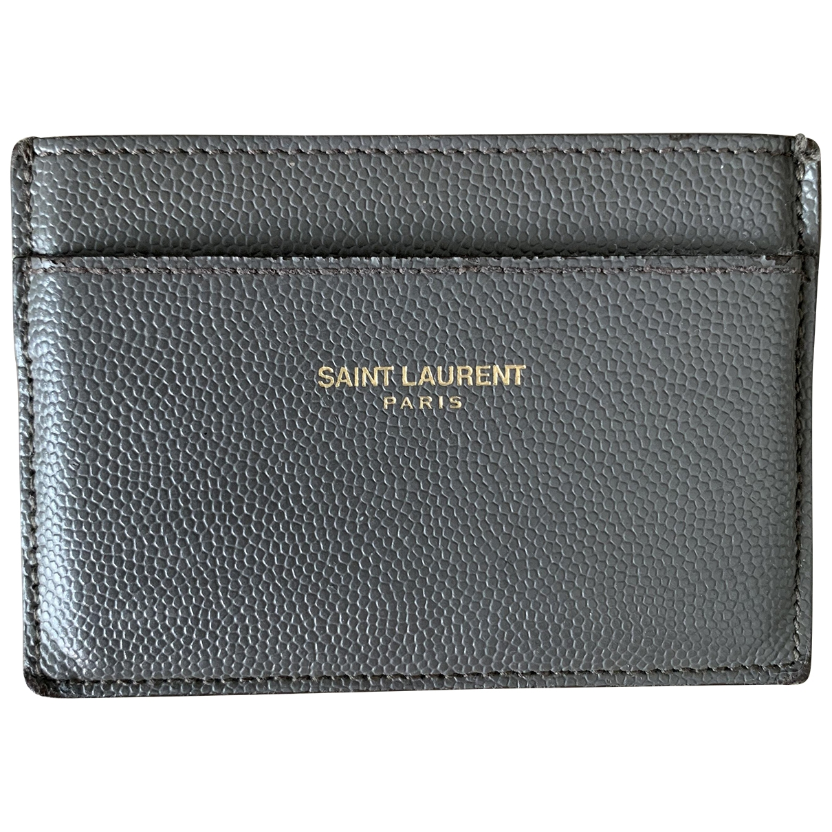 Saint Laurent \N Kleinlederwaren in  Grau Leder