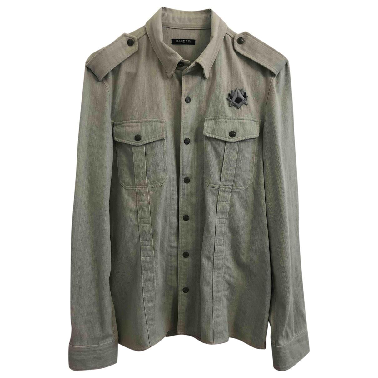 Balmain - Chemises   pour homme en denim - kaki