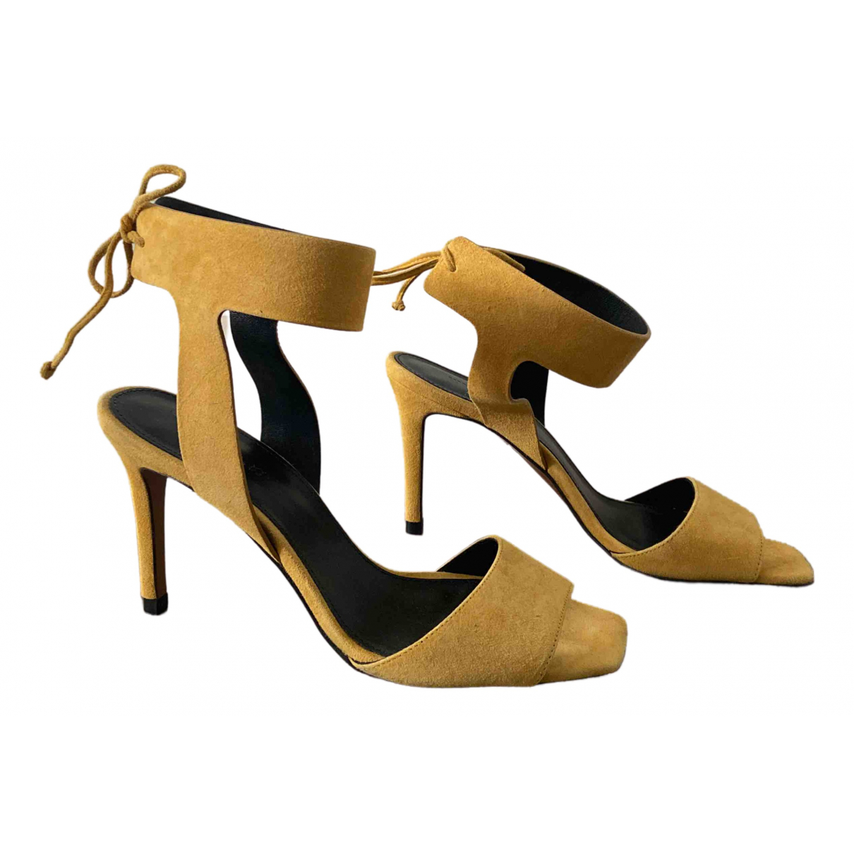 Whistles \N Yellow Suede Heels for Women 38 EU