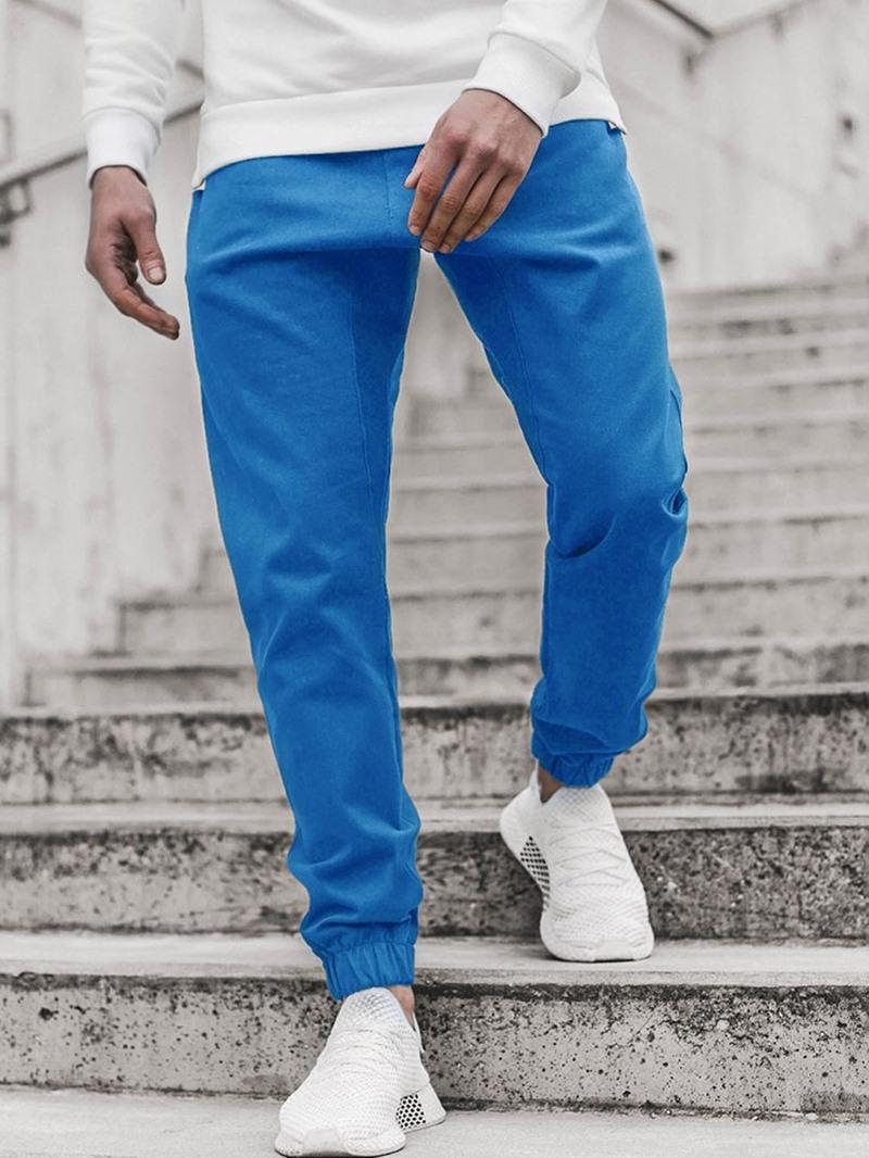 Ericdress Plain Pencil Pants Mid Waist Spring Casual Pants