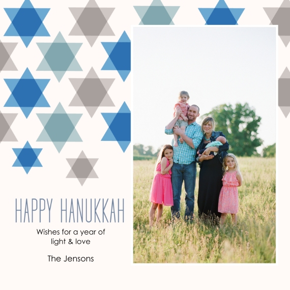 Hanukkah Photo Cards 5x5 Flat Card Set, 85lb, Card & Stationery -Starry Hanukkah