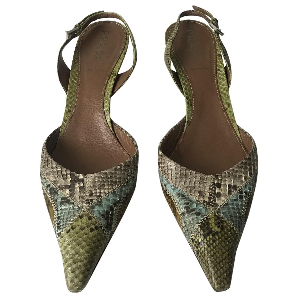 Prada \N Multicolour Python Heels for Women 39 EU