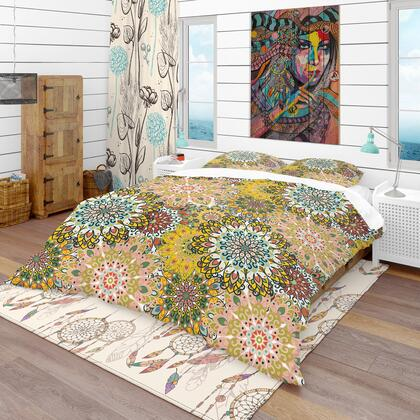 BED18607-T Designart 'Mandala Pattern For Printing On Fabric Or Paper' Bohemian & Eclectic Duvet Cover