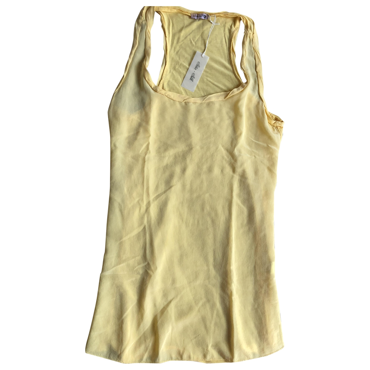 Non Signé / Unsigned \N Yellow Silk  top for Women 44 IT