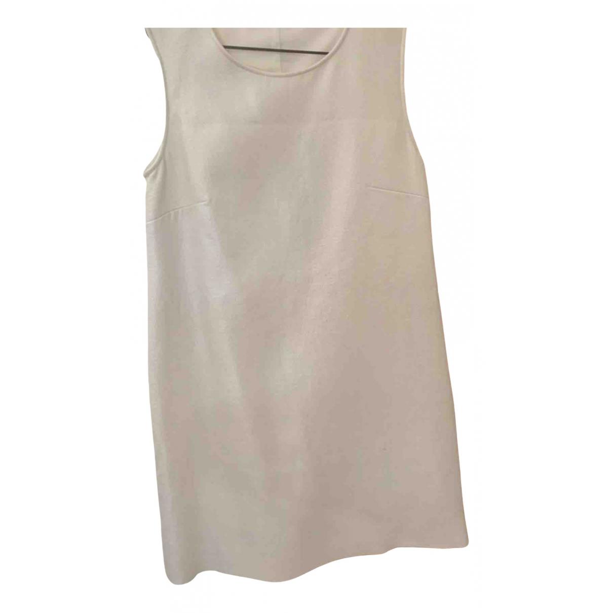 Maje N White Cotton - elasthane dress for Women 38 FR