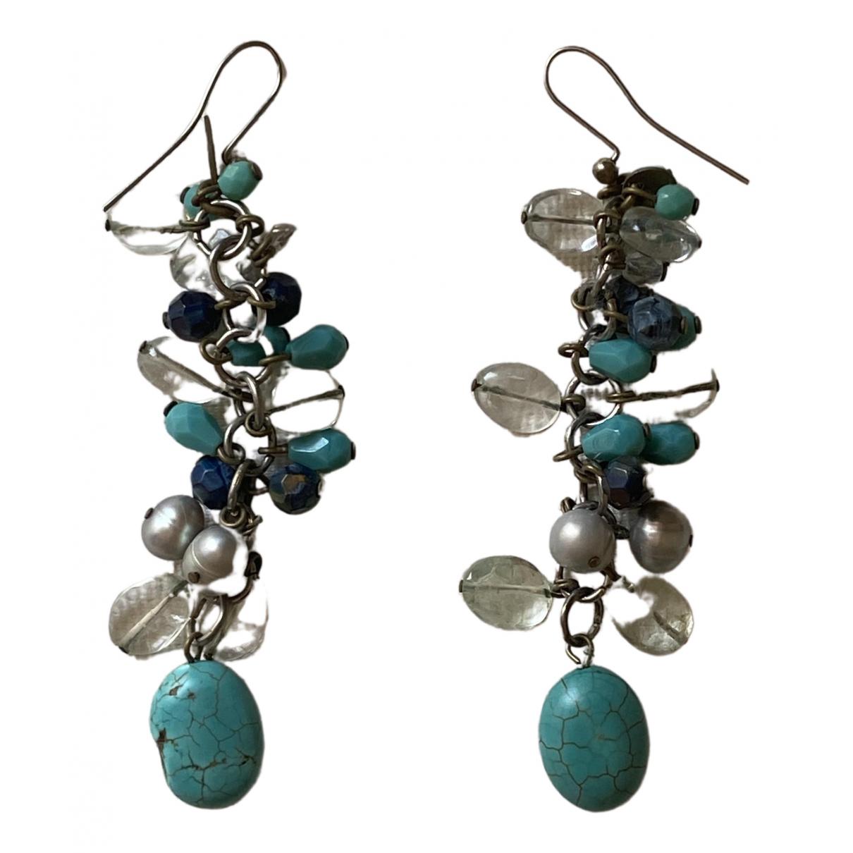 Furla \N Turquoise Metal Earrings for Women \N