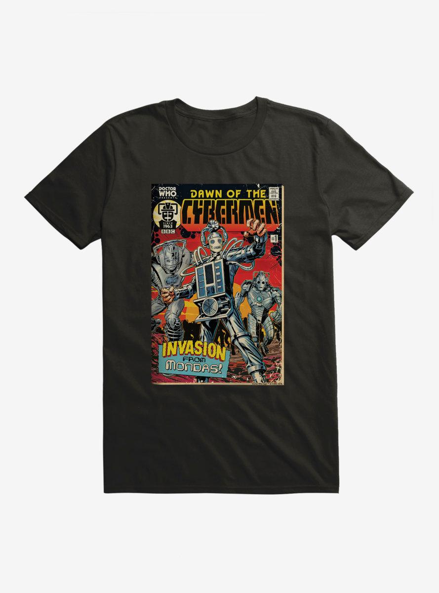 Doctor Who Cybermen Dawn Of The Cybermen Comic T-Shirt