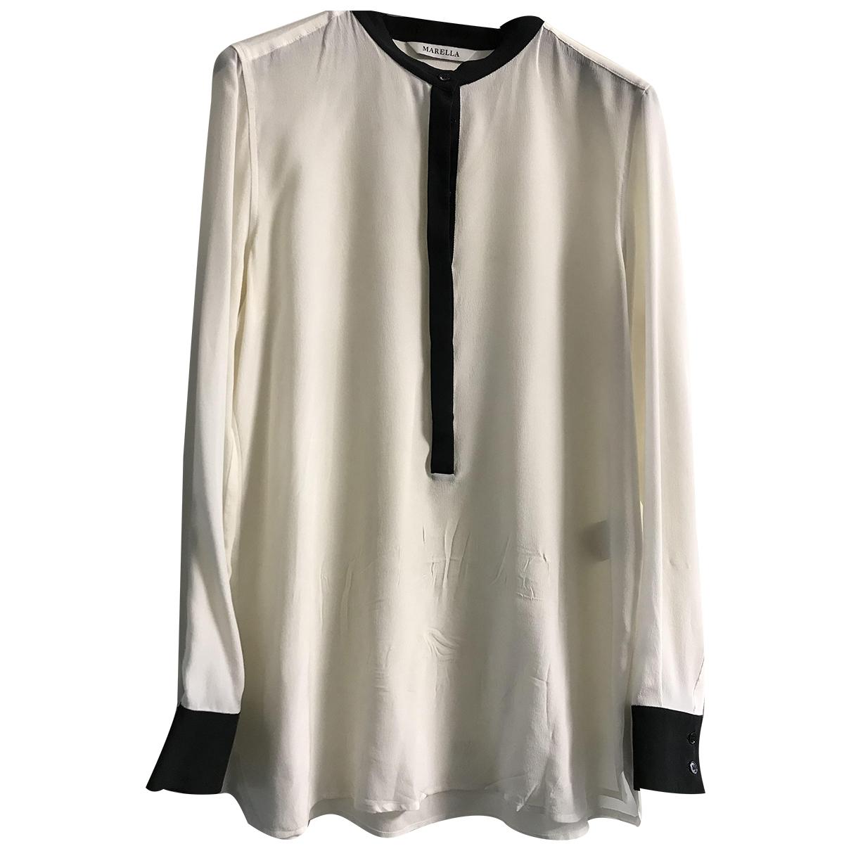 Marella \N White Silk  top for Women 42 IT