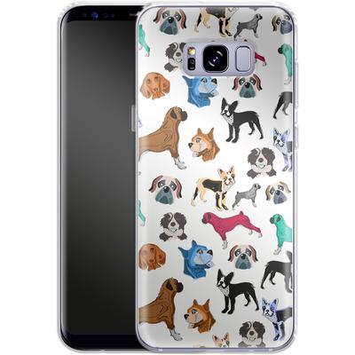 Samsung Galaxy S8 Plus Silikon Handyhuelle - Puppy Love von Mukta Lata Barua