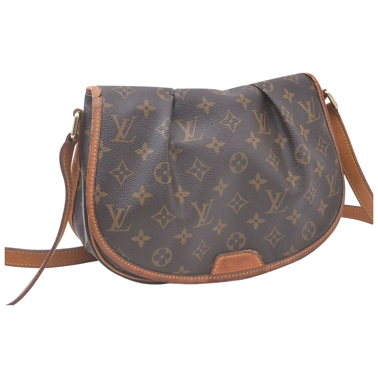Louis Vuitton \N Handtasche in  Braun Leinen