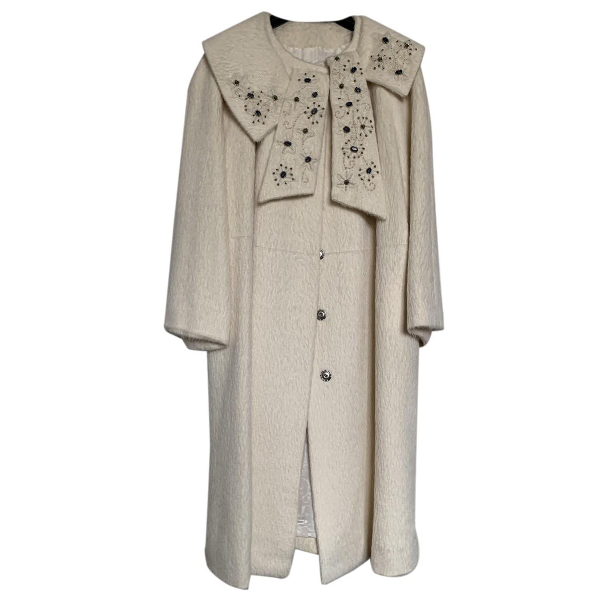 Dior - Manteau   pour femme en laine - blanc