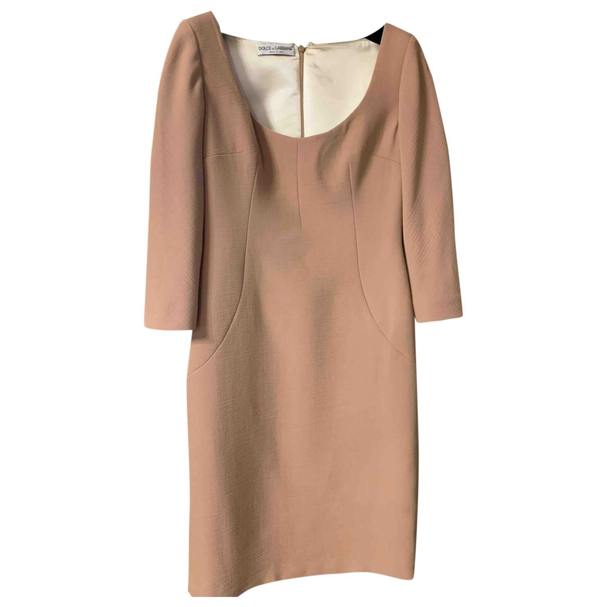 Dolce & Gabbana \N Kleid in  Beige Wolle