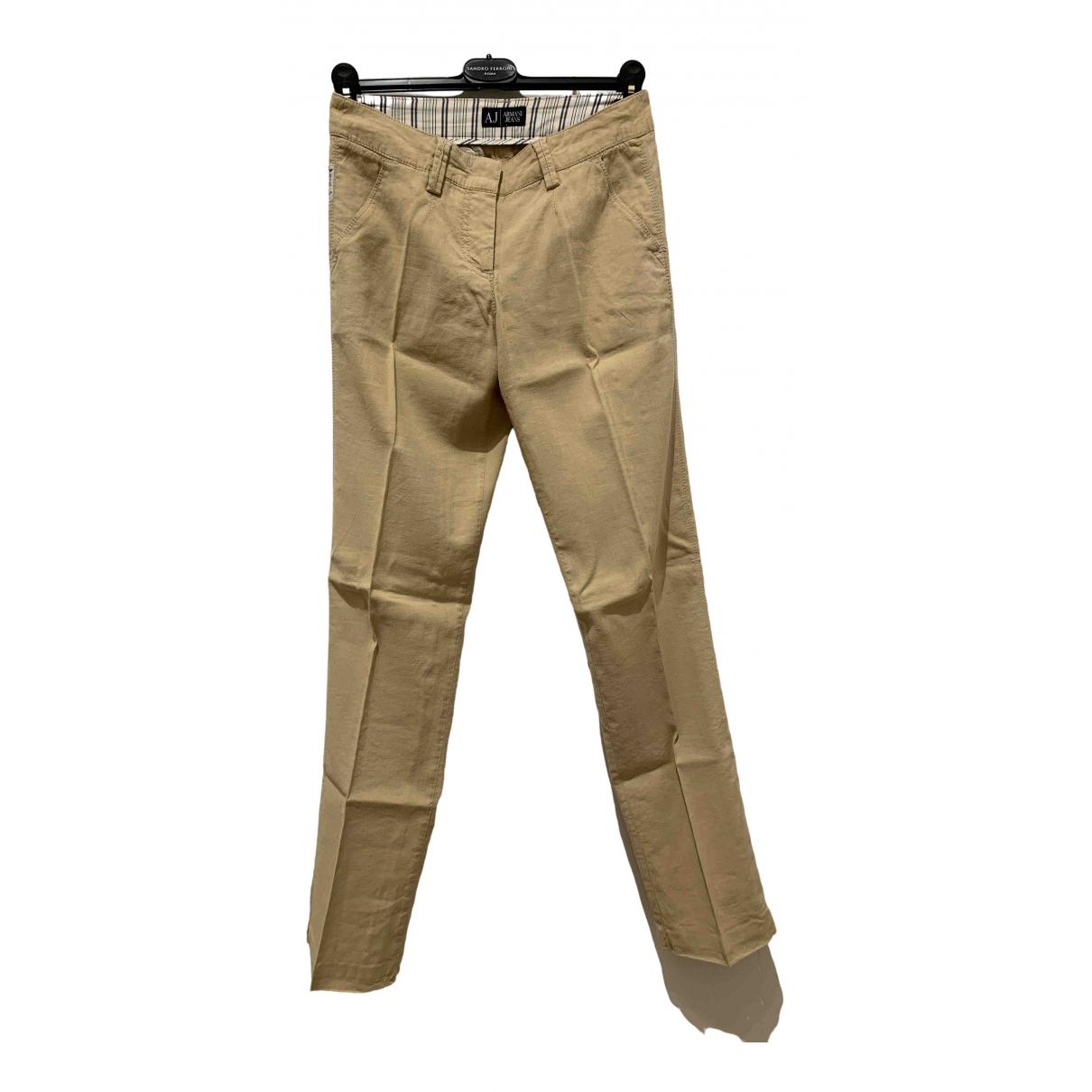 Pantalon recto de Lino Armani Jeans