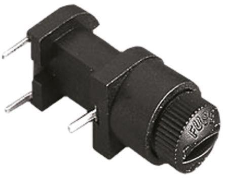 Bulgin 6.3A Manual, Slotted Cap PCB Mount Fuse Holder for 5 x 20mm Cartridge Fuse, 250V