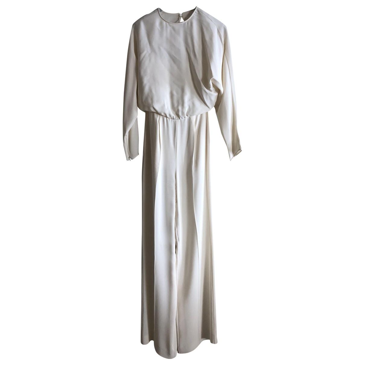 Valentino Garavani \N Beige Silk jumpsuit for Women 38 FR