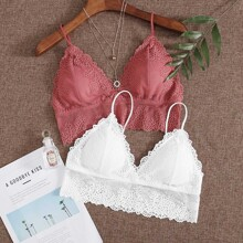 2pack Floral Lace Bra Set
