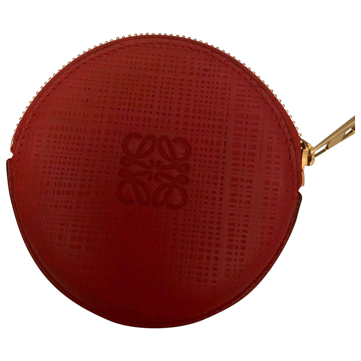 Loewe \N Red Leather Purses, wallet & cases for Women \N