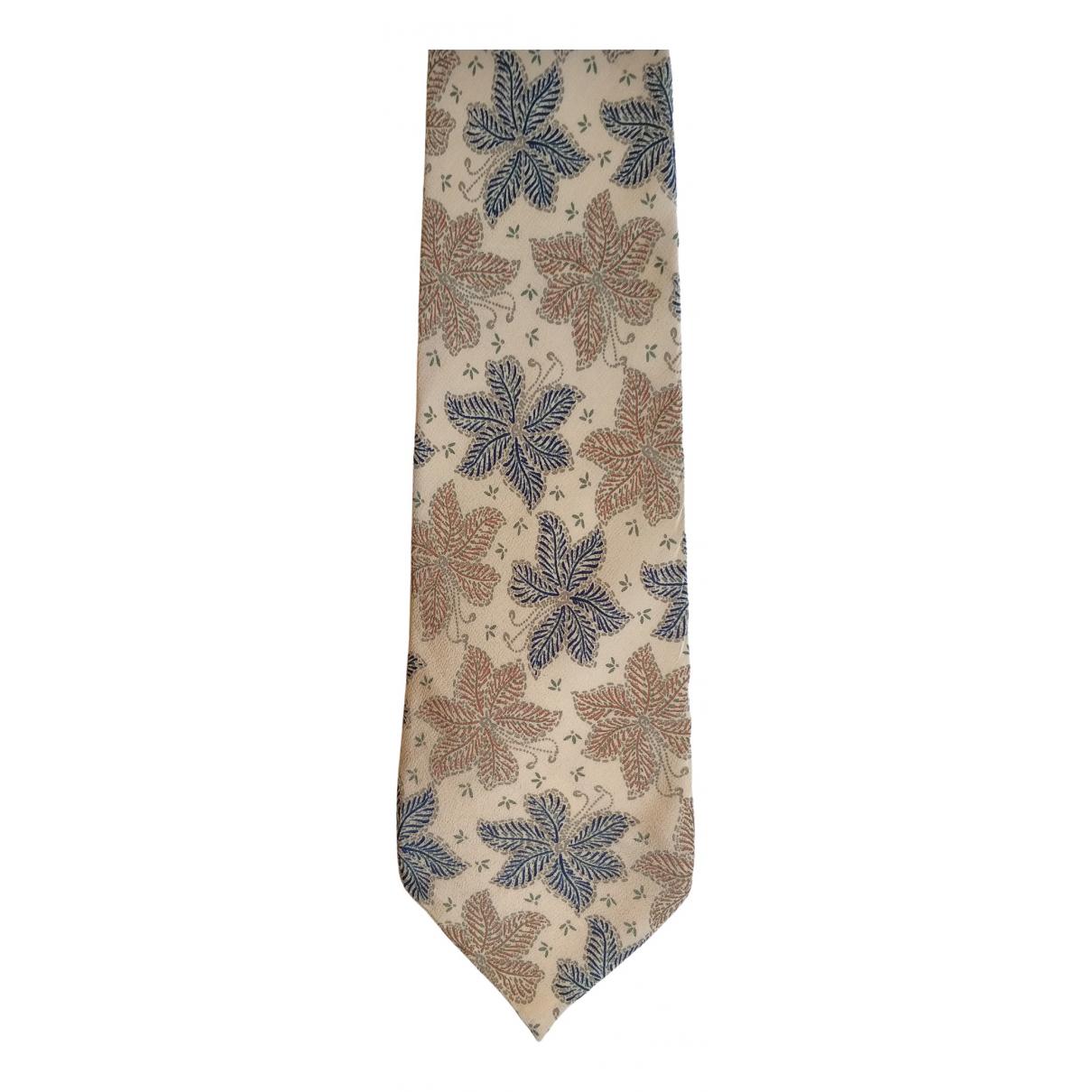 Fendi - Cravates   pour homme en soie - beige