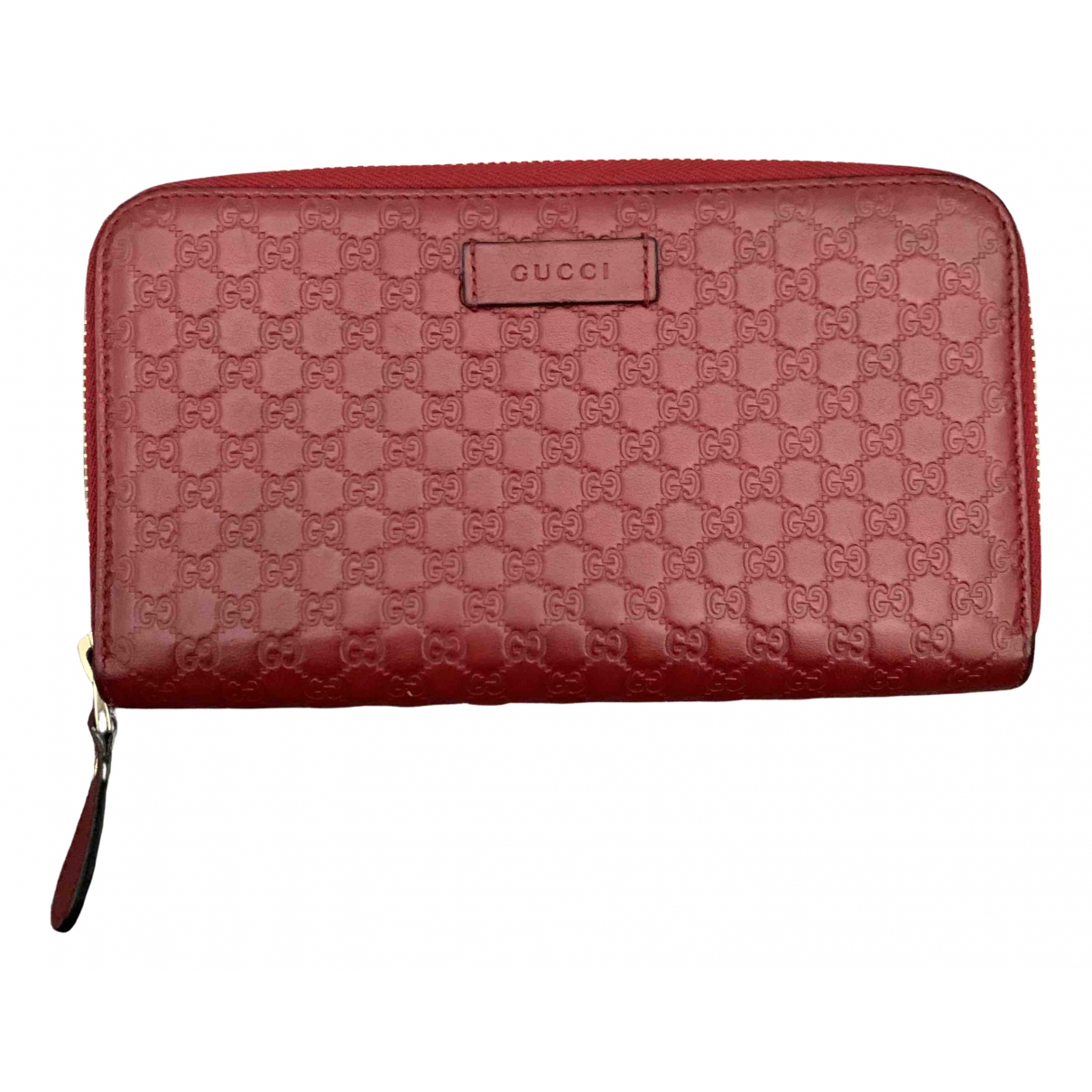 Gucci Continental Portemonnaie in  Rot Leder