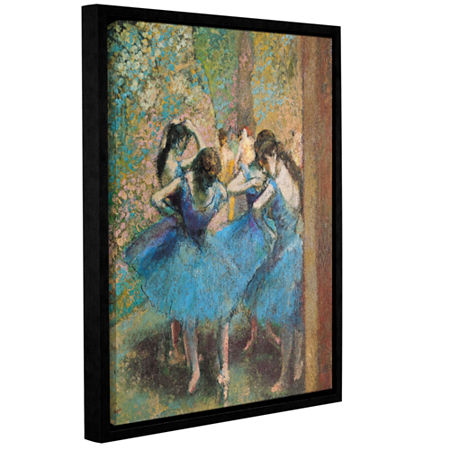 Brushstone Dancers in Blue Gallery Wrapped Floater-Framed Canvas Wall Art, One Size , Blue