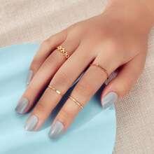 4 Stuecke minimalistischer Ring
