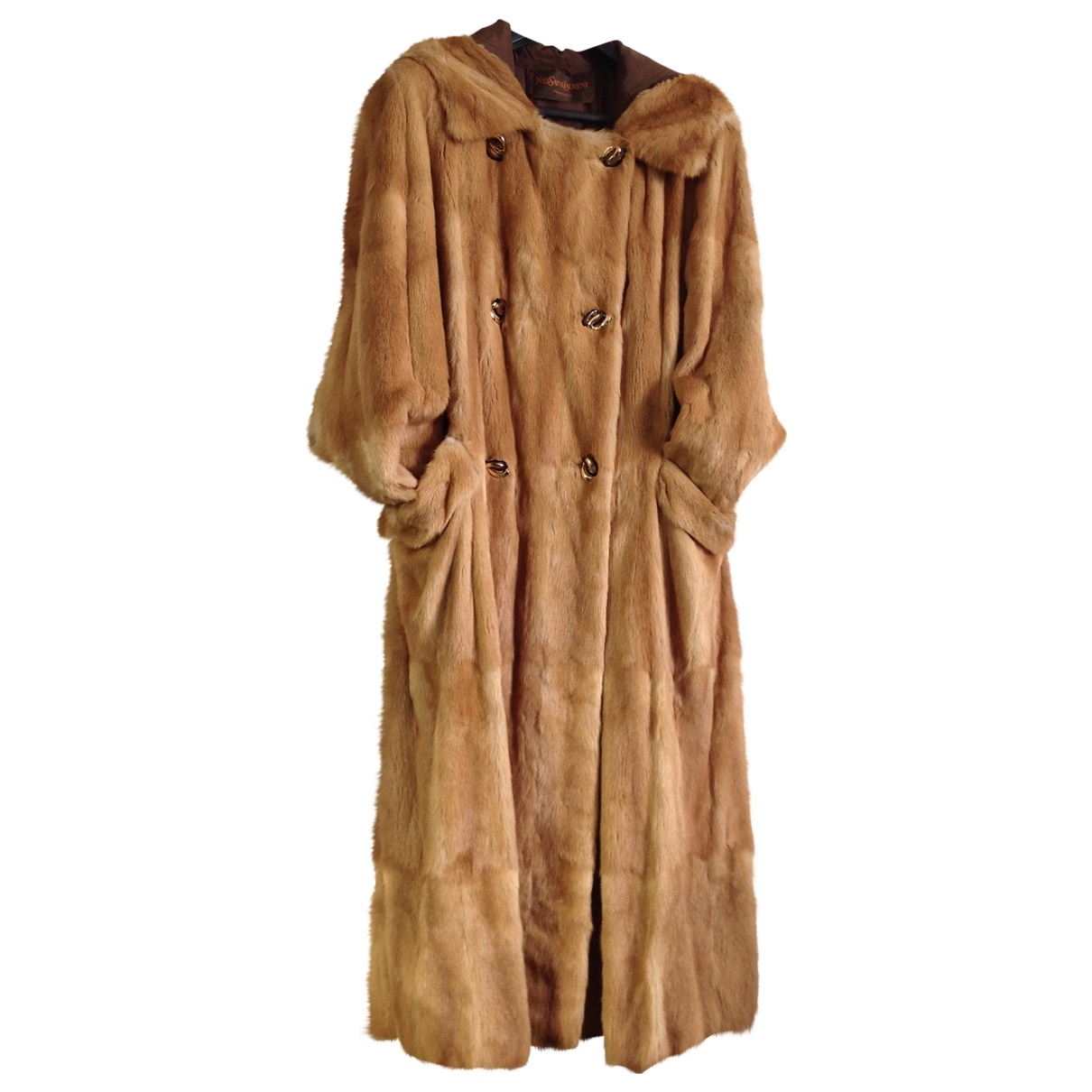Yves Saint Laurent \N Gold Fur coat for Women 42 FR