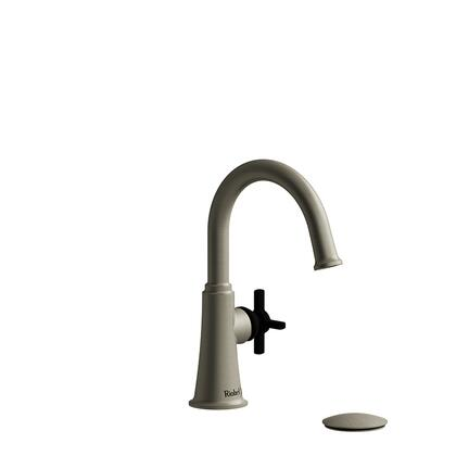 Momenti MMRDS01+BNBK-10 Single Hole Lavatory Faucet with + Cross Handle 1.0 GPM  in Brushed
