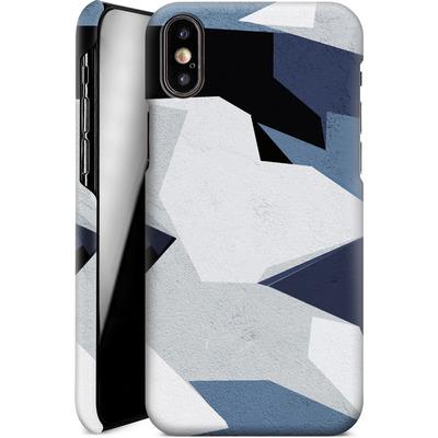 Apple iPhone X Smartphone Huelle - Geometric Camo Blue von caseable Designs