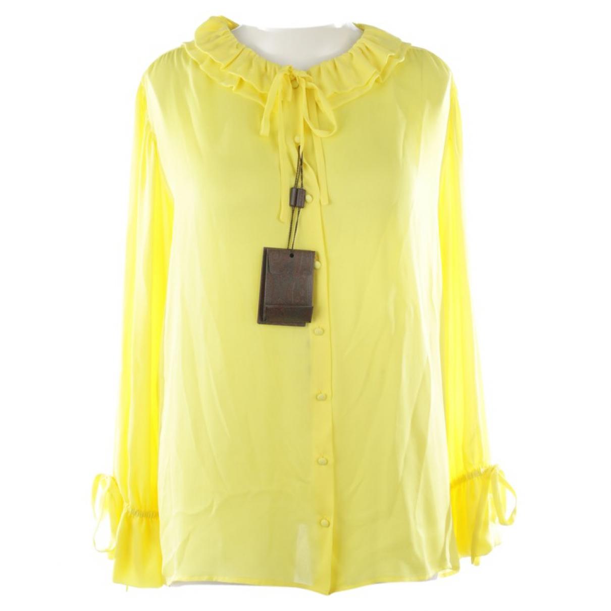 Etro \N Yellow Silk  top for Women 42 FR