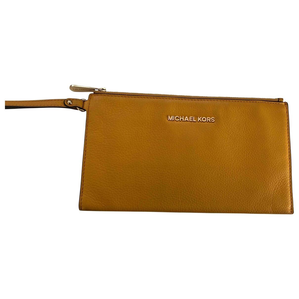 Michael Kors - Petite maroquinerie   pour femme en cuir - jaune