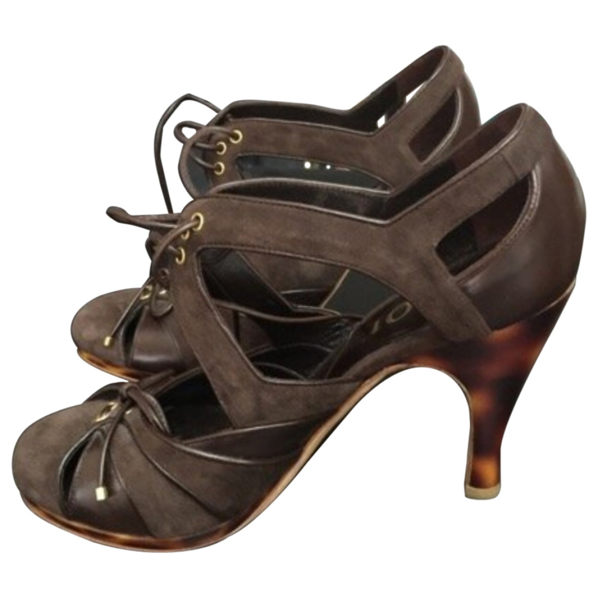 Dior \N Brown Leather Sandals for Women 36 EU