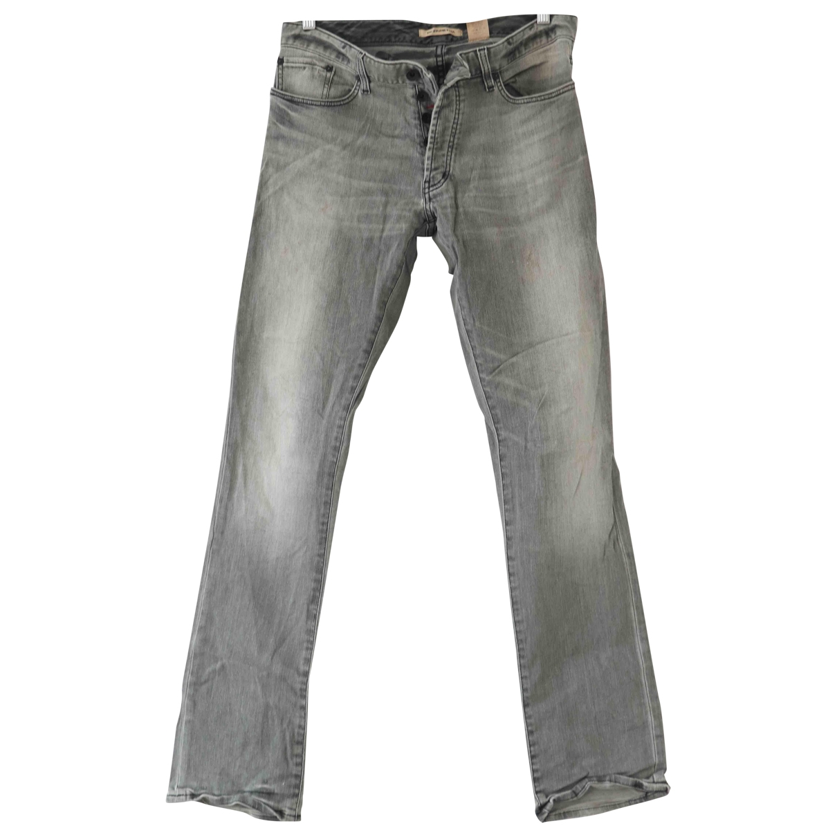 John Varvatos \N Grey Cotton - elasthane Jeans for Men 32 US