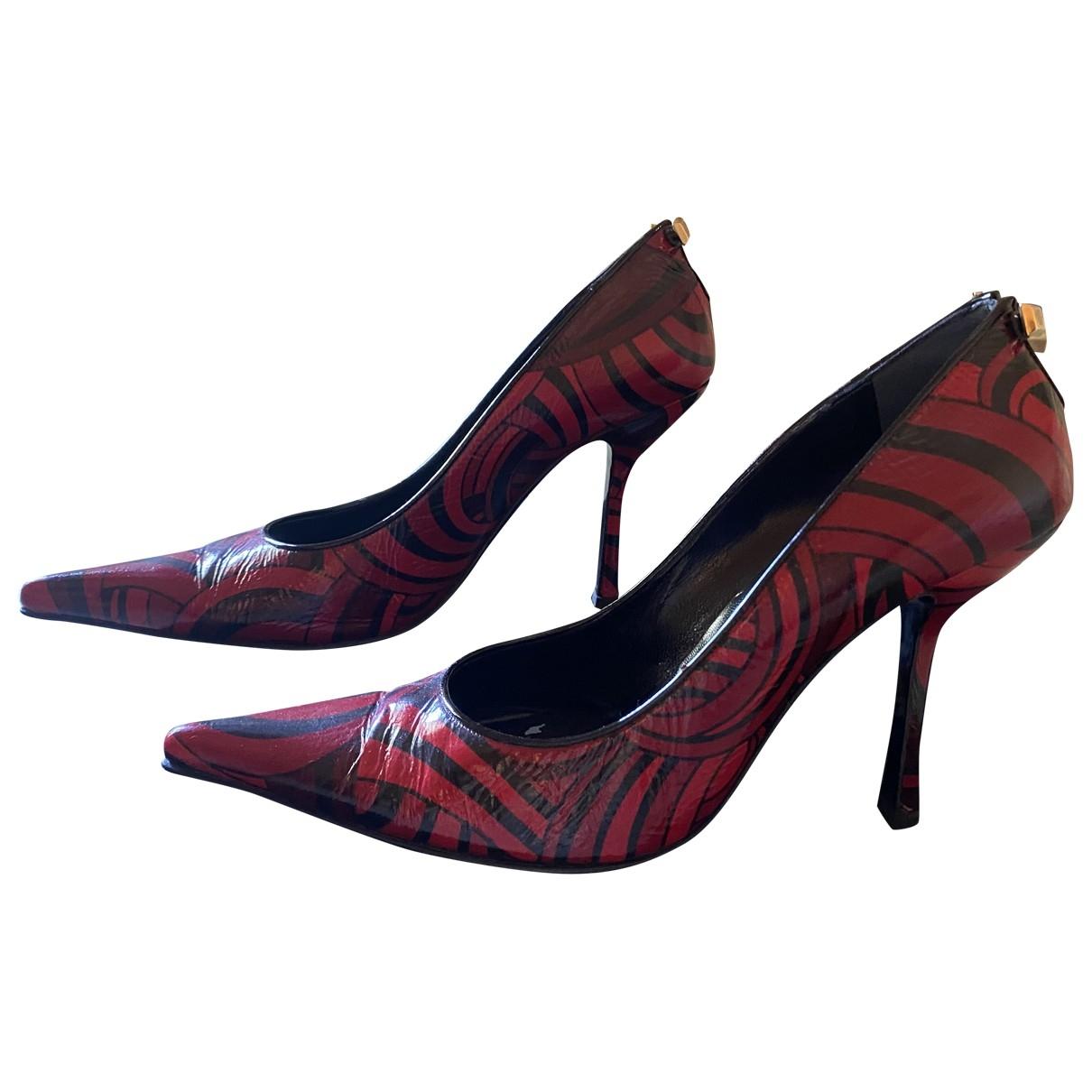 Gianni Versace - Escarpins   pour femme en cuir - multicolore