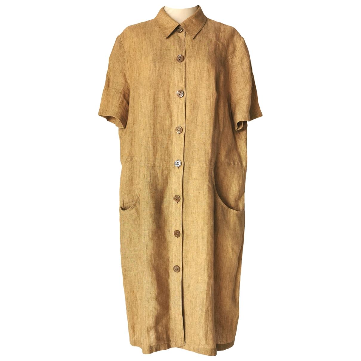 Givenchy \N Kleid in  Ecru Leinen