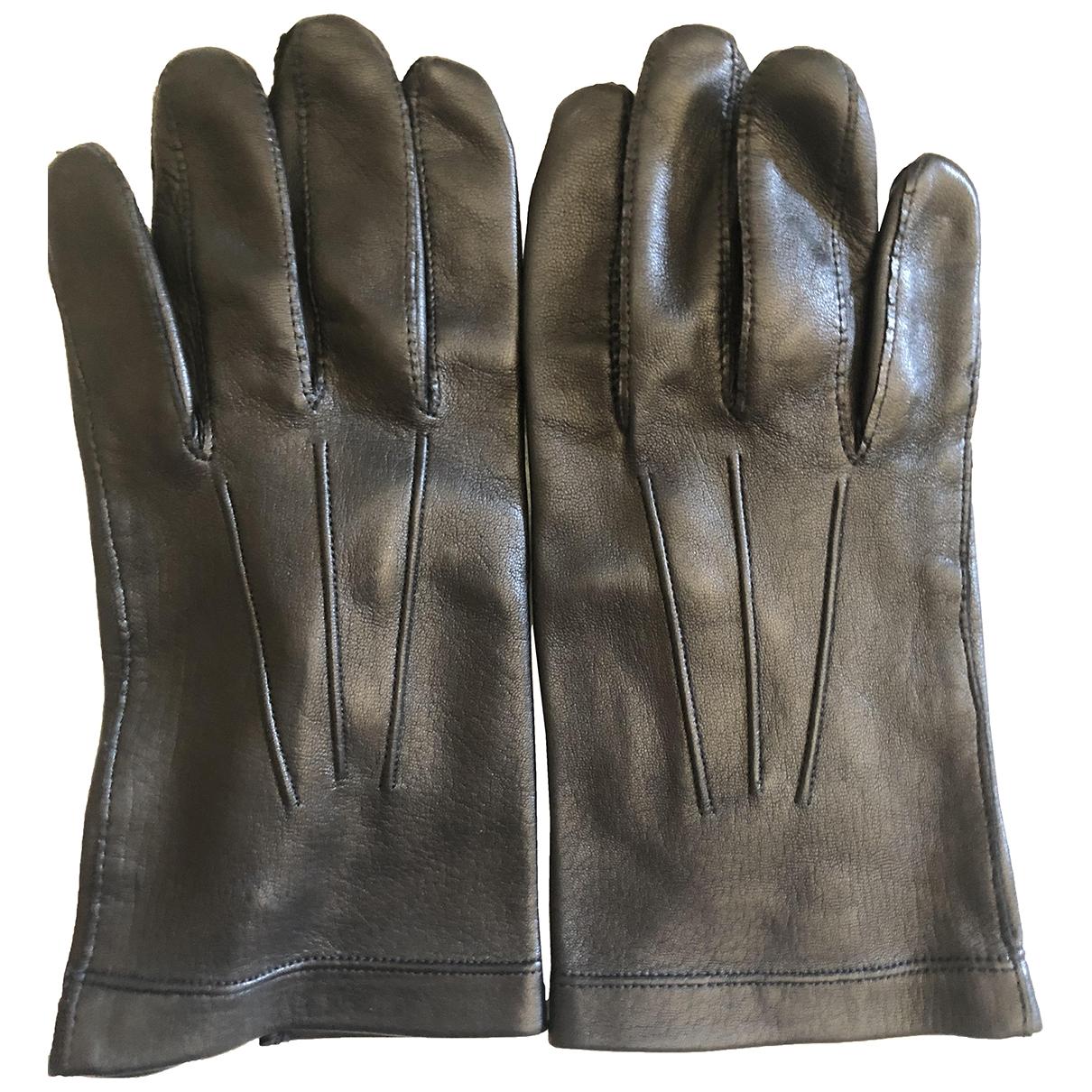 Sermoneta Gloves - Gants   pour homme en cuir - noir
