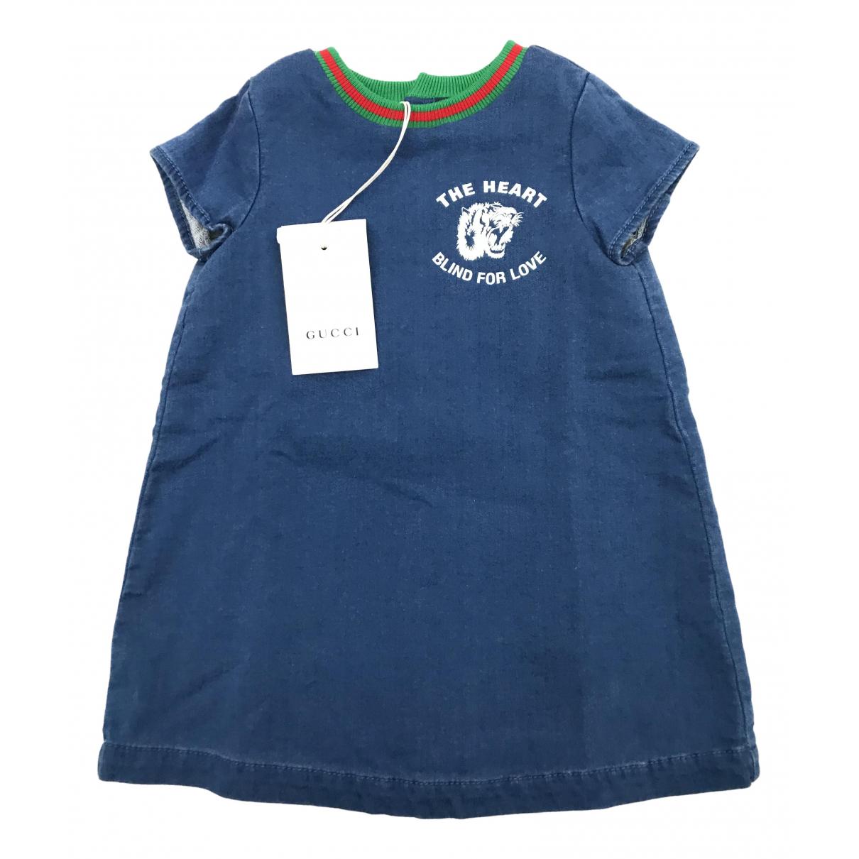 Gucci \N Kleid in  Blau Denim - Jeans