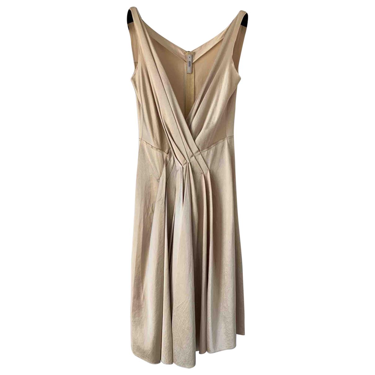 Prada \N Kleid in  Gold Seide