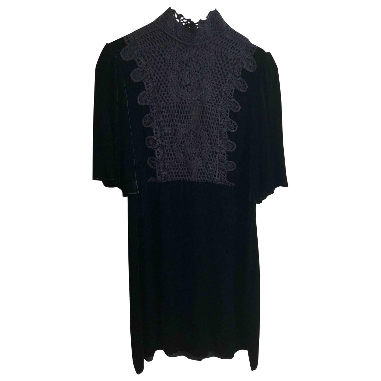 Mini vestido de Terciopelo Zara